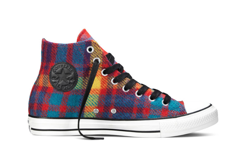 Plaid-Patterned Sneakers