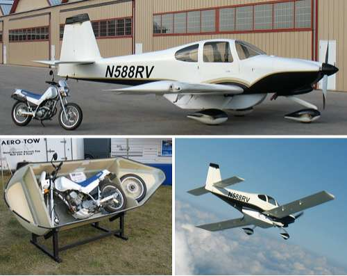 Plane Cargo Pods for Motorbikes