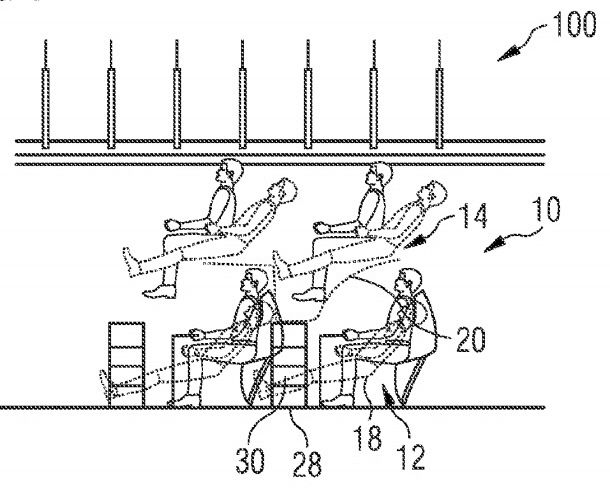 Multi-Level Airplane Seating