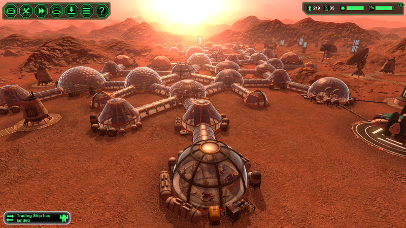 Martian Base-Building Games