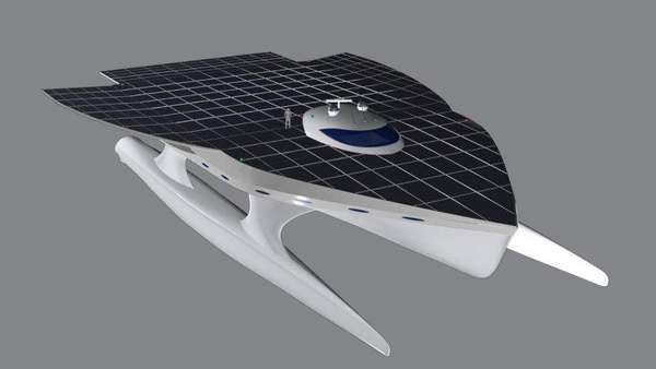 Giant Solar-Powered Catamarans