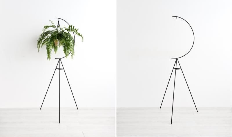 Moon-Inspired Greenery Stands
