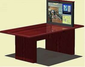 tele conferencing with 42 pop up tv plasma lift. Black Bedroom Furniture Sets. Home Design Ideas