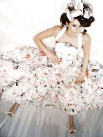 plastic bags wedding dress