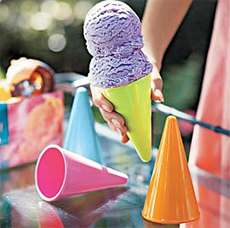 Plastic Ice Cream Cones