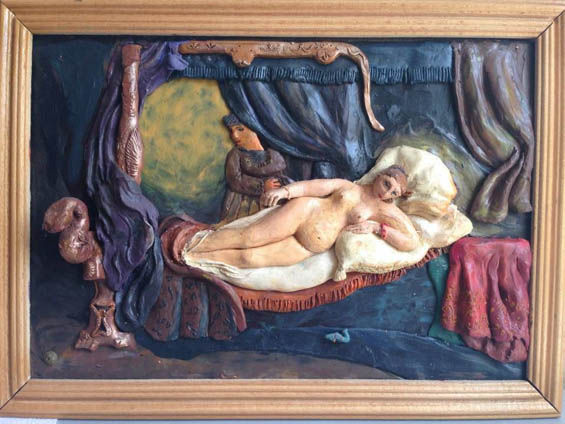 Famous Painting Plasticine Art