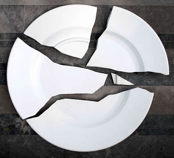Destroyed Dish Sculptures