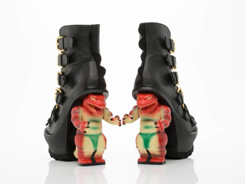 Edgy Monster Heels Platform Boots