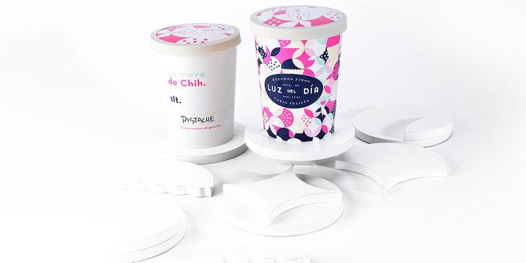 Graphic Ice Cream Branding