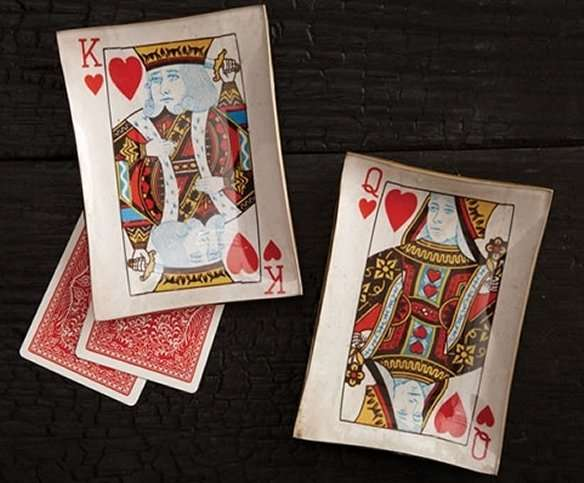 Eclectic Playing Card Plates