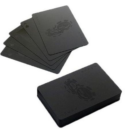 Playing Card Set on matte black business cards