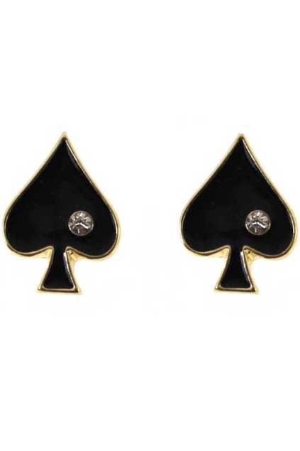 Card Suit Earrings Playing Card Studs