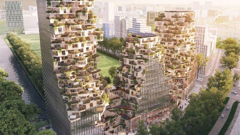 Greenery-Embracing Buildings