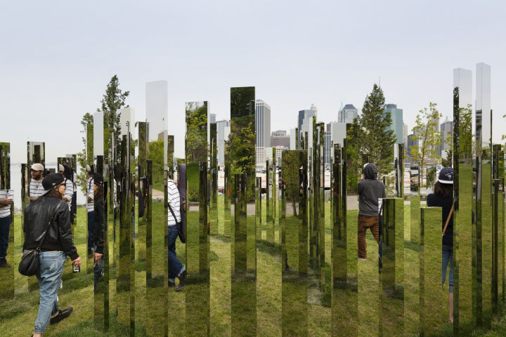 Mirrored Labyrinth Installations
