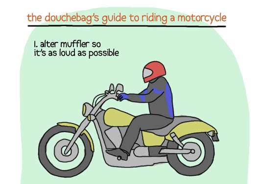 Offensive Biker Advice