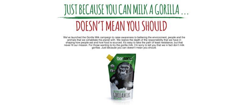 Gorilla's Milk Beverages