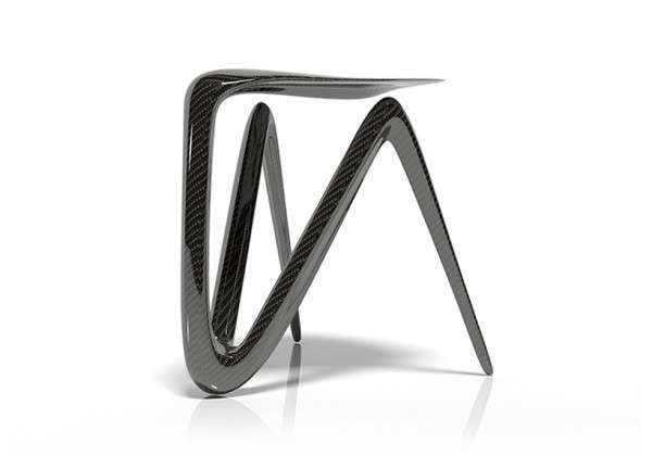 Plum Carbon Stool
