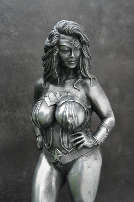 Curvy Superhero Statues