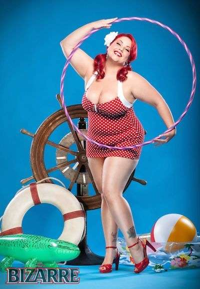 Voluptuous vintage photoshoots plus size pin up april flores gives