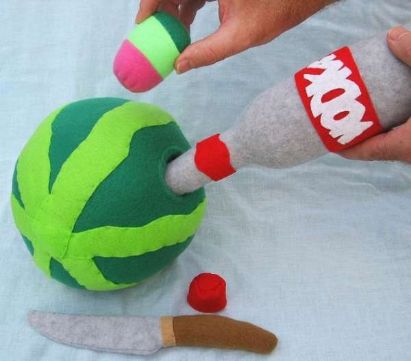 Plush Spiked Watermelon