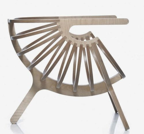 Plywood Chair W01 by Branca