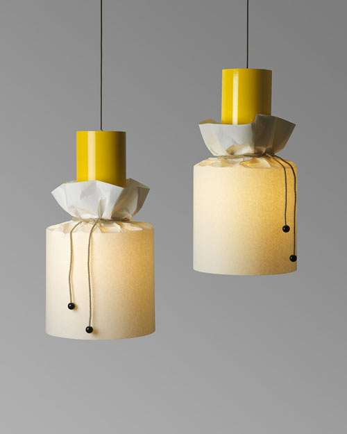 Glowing Jar-Like Fixtures