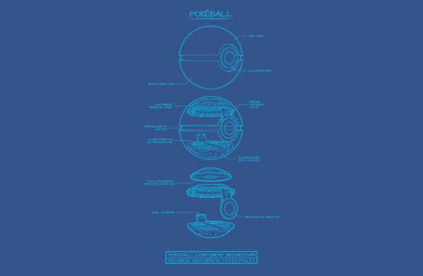 Pokeball Schematic T-Shirt