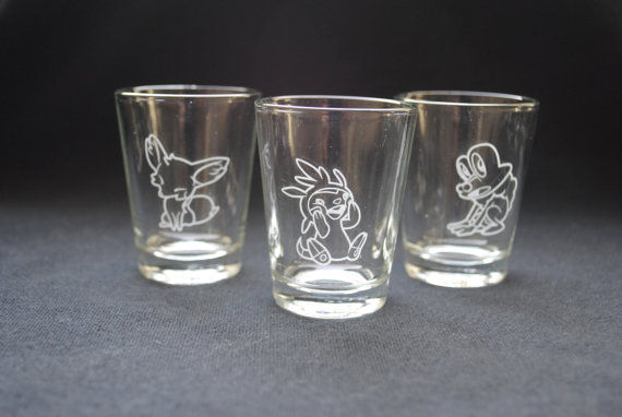 Pokemon X Y Shot Glasses