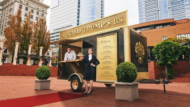 Food truck selling Trump's BS opens in Portland.