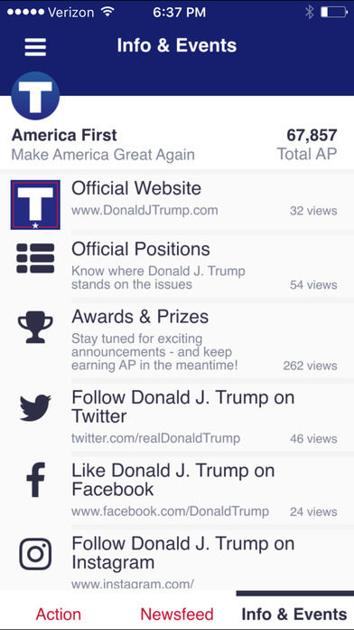 Gamified Politics Apps