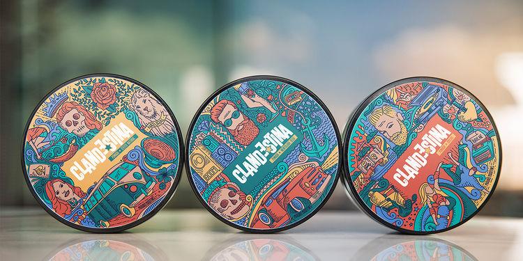 Vibrant Pomade Packaging