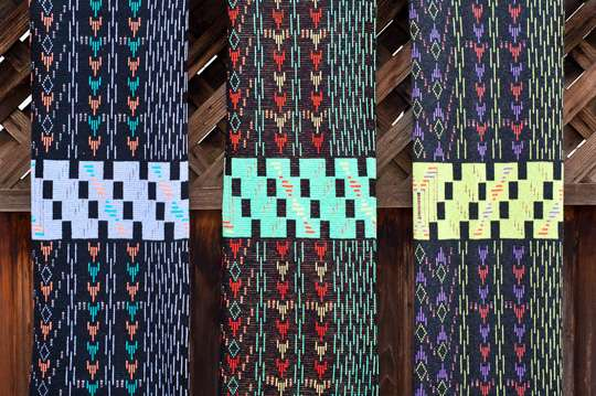 Psychedelically Patterned Scarves