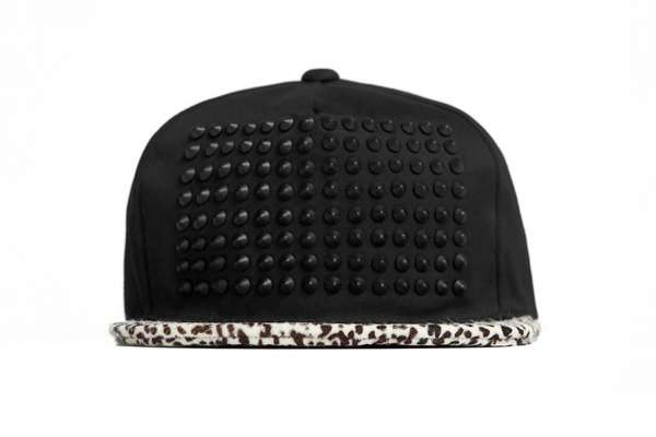 Spiked Animal Print Caps