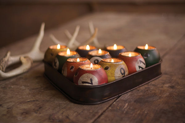 Upcycled Billiard Tea Lights