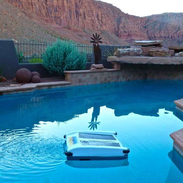 Solar-Powered Pool Skimmers