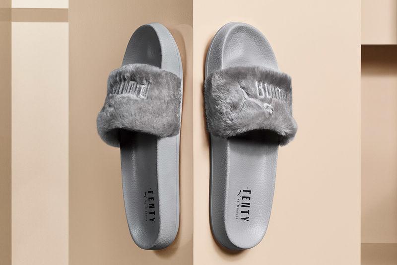 Furry Slip-On Sandals