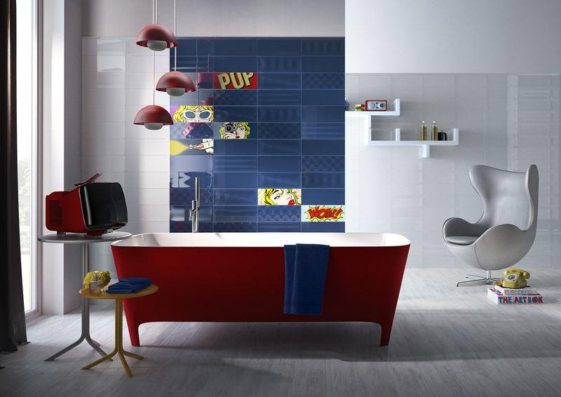 Pop Art-Inspired Tiles