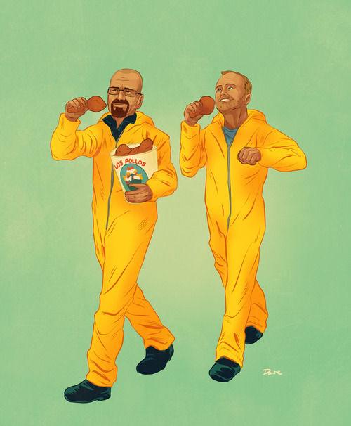 "Dynamic Duo Illustrations : ""pop culture friends"""