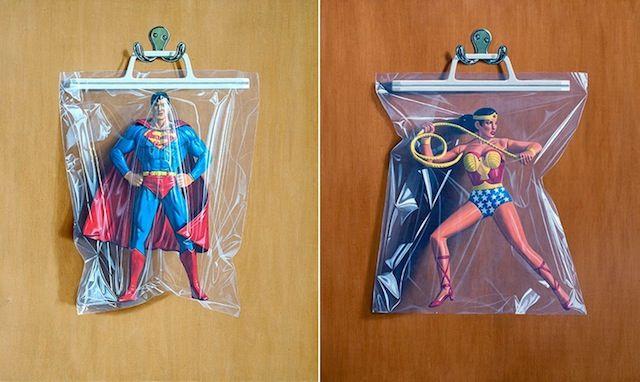 Packaged Superhero Illustrations