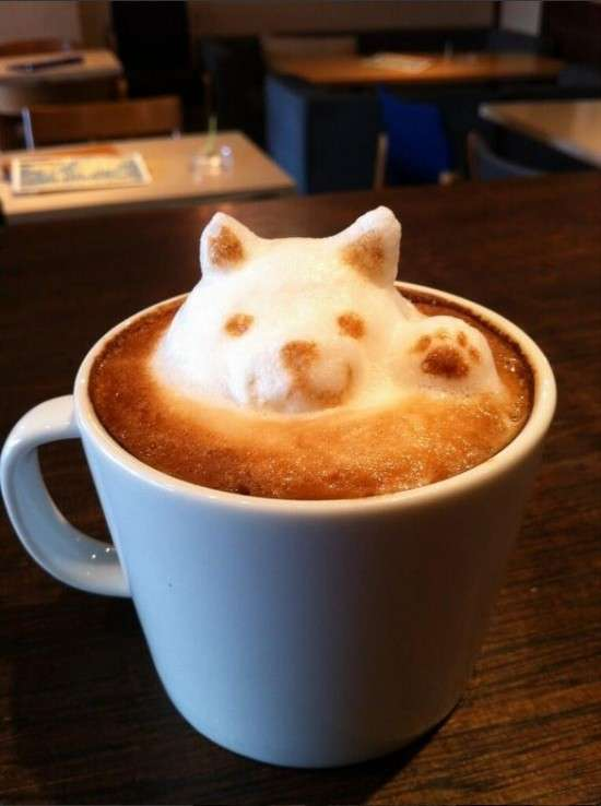 pop out latte art