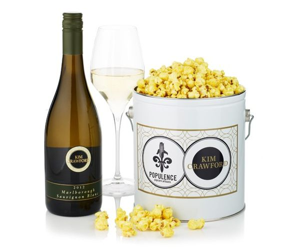 Zesty Wine-Infused Popcorns