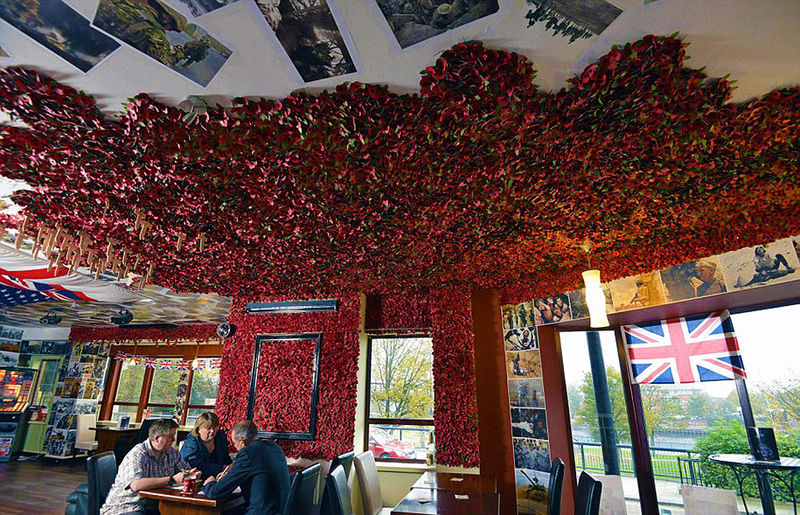 Poppy-Decorated Eateries