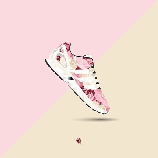 Polygonal Sneaker Illustrations