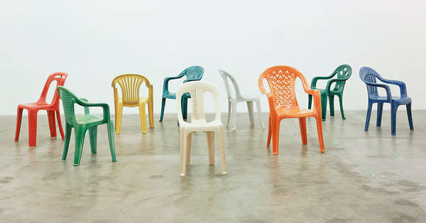 Porcelain Chairs by Sam Durant