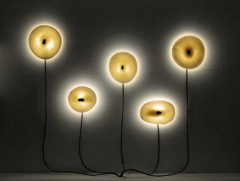 Porcelain Volcanic Lights