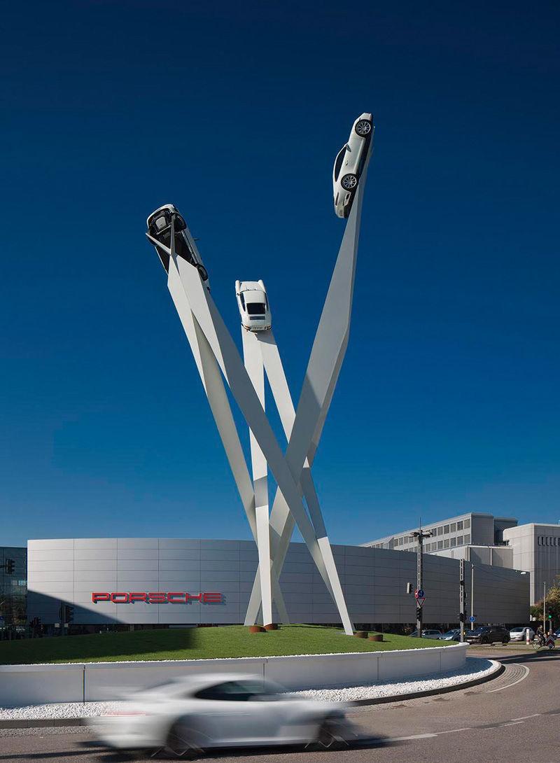Upward Automobile Sculptures