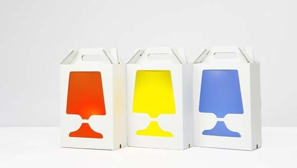 Cardboard Box Lamps