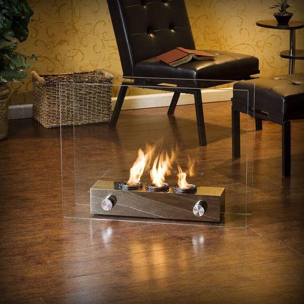 62 romantic indoor fireplaces for Indoor outdoor fireplaces