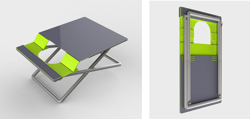 Folding Portable Workstations