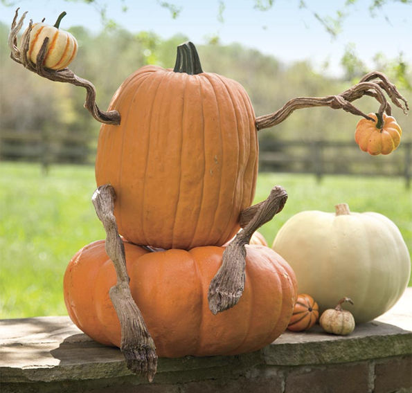 Personified Pumpkin Decorations